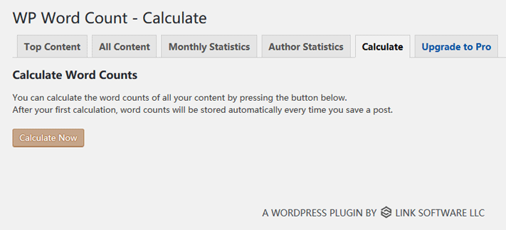 WP Word Count - Calculate