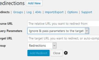 Redirection插件使用说明_WordPress重定向301插件